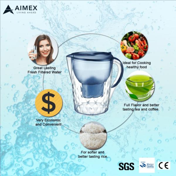 Blue pitcher filter